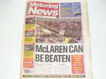 MOTORING NEWS 1998 May 13 Spanish GP , CART, Manx National, FIA GT, F3000